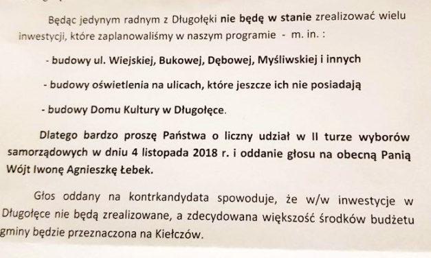 Kampania zaostrza się. Sztab obecnej wójt wysyła listy, Błoński: to manipulacja!