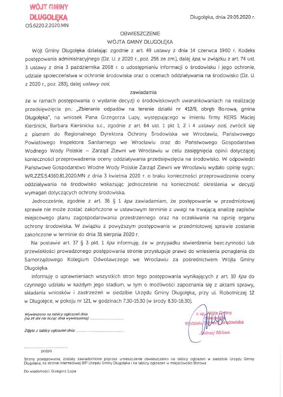 image 2 - W gminie Długołęka powstaną zakłady przetwarzania zużytego sprzętu i odpadów?