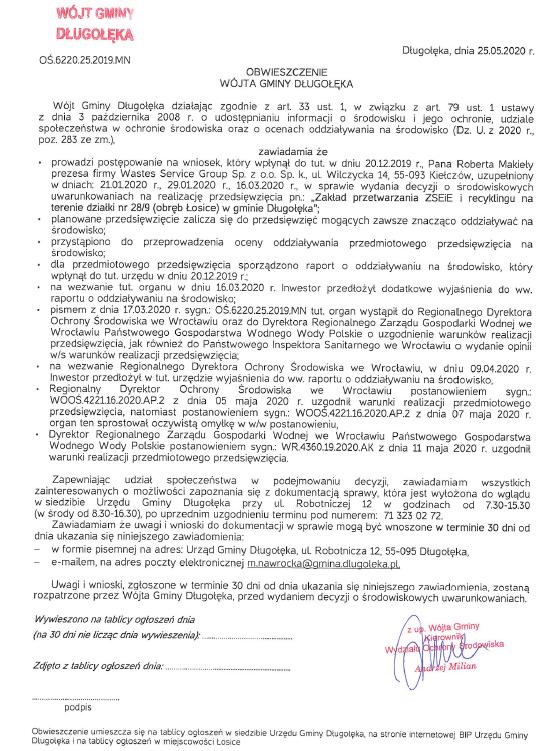 image - W gminie Długołęka powstaną zakłady przetwarzania zużytego sprzętu i odpadów?