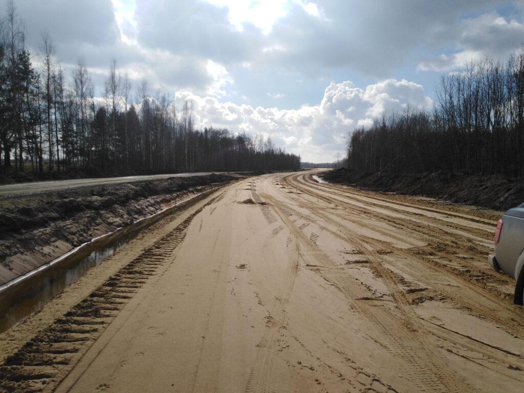 nasyp trasa glowna w km 8900 9000 20210318 1024x768 - Jak idą prace na budowie północnego odcinka wschodniej obwodnicy Wrocławia?