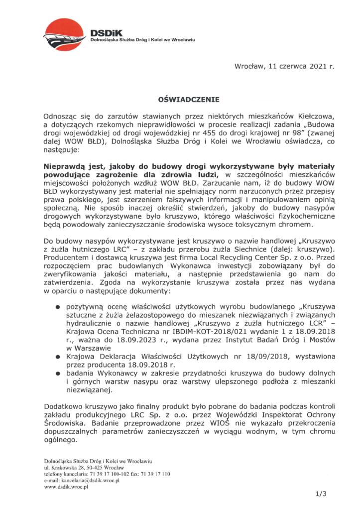image 729x1024 - DSDiK przedstawia raport z badań kruszywa wykorzystywanego do budowy WOW